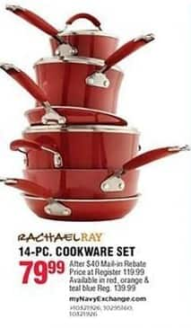 Navy Exchange Black Friday: Rachael Ray 14-pc Cookware Set for $79.99