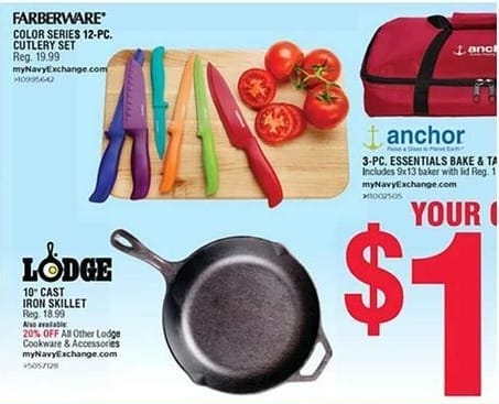 Navy Exchange Black Friday: Lodge Cookware & Accessories - 20% Off