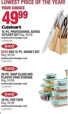 Navy Exchange Black Friday: Oxo 30-pc Snap Glass & Plastic Food Storage for $49.99