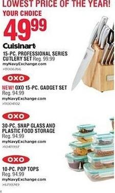 Navy Exchange Black Friday: Oxo 15-pc Pop Tops for $49.99
