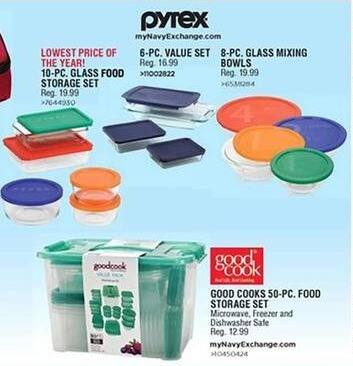 Navy Exchange Black Friday: Pyrex 8-pc Glass Mixing Bowls for $10.00