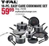 Navy Exchange Black Friday: T-Fal 18-pc Easy Care Cookware Set for $59.99