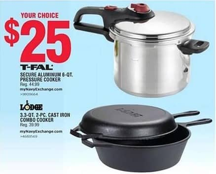 Navy Exchange Black Friday: Lodge 3.3-qt Cast Iron 2-pc Combo Cooker for $25.00