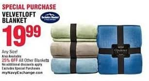 Navy Exchange Black Friday: Blankets - 25% Off