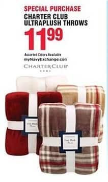 Navy Exchange Black Friday: Charter Club Ultraplush Throws for $11.99
