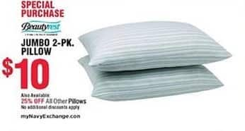 Navy Exchange Black Friday: Select Pillows - 25% Off