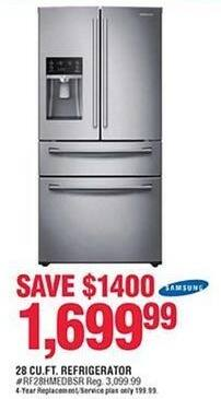 Navy Exchange Black Friday: Samsung 28 cu.ft. Refrigerator for $1,699.99