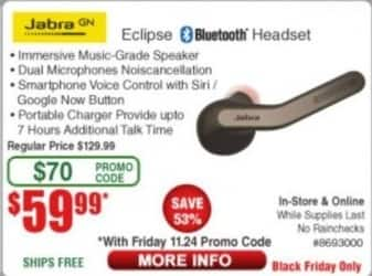 Frys Black Friday: Jabra Eclipse Bluetooth Headset for $59.99