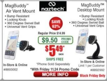 Frys Black Friday: Naztech Magbuddy Air Vent or Desktop Mount for $5.49