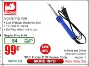 Frys Black Friday: Rhino Soldering Iron for $0.99