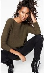 Express.com Black Friday: Lace-Up Sweater for $69.90