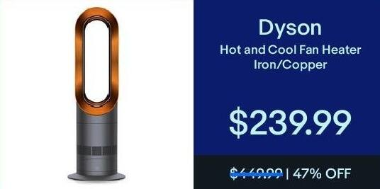 eBay Black Friday: Dyson Hot & Cool Fan Heater Iron/Copper for $239.99