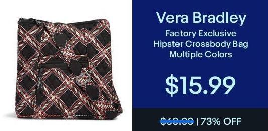 eBay Black Friday: Vera Bradley Hipster Crossbody Bag for $15.99
