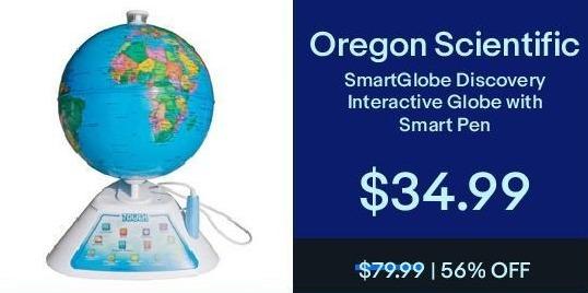 eBay Black Friday: Oregon Scientific SmartGlobe Discovery Interactive Globe w/ Smart Pen for $34.99