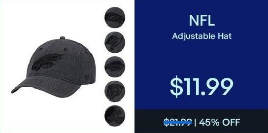 eBay Black Friday: NFL Adjustable Hat for $11.99
