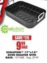 "Blains Farm Fleet Black Friday: Ecolution 17""x12"" Oven Roaster w/ Rack for $9.99"