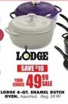 Blains Farm Fleet Black Friday: Lodge 6-qt Enamel Dutch Oven for $49.99