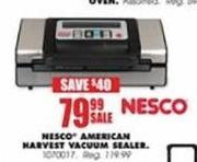 Blains Farm Fleet Black Friday: Nesco Deluxe Vacuum Sealer for $79.99