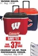 Blains Farm Fleet Black Friday: Coleman 60-qt Team Performance Cooler for $37.99