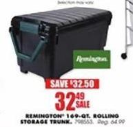 Blains Farm Fleet Black Friday: Remington 169-qt Rolling Storage Trunk for $32.49