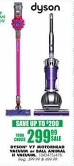 Blains Farm Fleet Black Friday: Dyson V7 Motorhead Vacuum or Dyson Ball Animal II Vacuum for $299.99