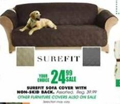 Blains Farm Fleet Black Friday: Surefit Sofa Cove w/ Non-Skid Back for $24.99