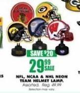 Blains Farm Fleet Black Friday: NFL, NCAA & NHL Neon Team Helmet Lamp for $29.99