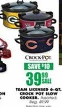 Blains Farm Fleet Black Friday: Team Licensed 6-qt Crock Pot Slow Cooker for $39.99