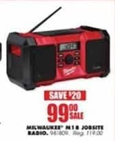 Blains Farm Fleet Black Friday: Milwaukee M18 Jobsite Radio for $99.00