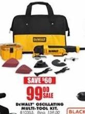 Blains Farm Fleet Black Friday: DeWalt Oscillating Multi-Tool Kit for $99.00