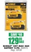 Blains Farm Fleet Black Friday: DeWalt 20V MAX Premium Li-Ion Battery Combo Pack for $129.00