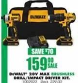 Blains Farm Fleet Black Friday: DeWalt 20V MAX Brushless Drill/Impact Driver Combo Kit for $159.00