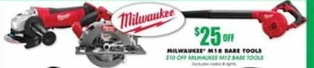 Blains Farm Fleet Black Friday: Milwaukee M12 Bare Tools - $10 Off