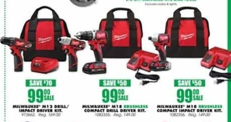 Blains Farm Fleet Black Friday: Milwaukee M12 Cordless Combo Drill/Impact Driver Kit for $99.00