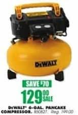 Blains Farm Fleet Black Friday: DeWalt 6-gal 165 PSI Pancake Compressor for $129.00