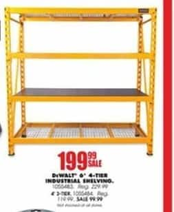 Blains Farm Fleet Black Friday: DeWalt 6-ft. 4-Tier Industrial Shelving for $199.99