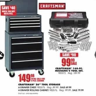 Blains Farm Fleet Black Friday: Craftsman 4-Drawer Tool Chest for $69.99
