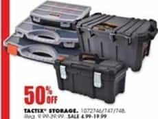 Blains Farm Fleet Black Friday: Tactix Storage - 50% Off