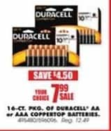 Blains Farm Fleet Black Friday: Duracell 16-ct AA or AAA Coppertop Batteries for $7.99