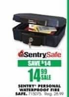 Blains Farm Fleet Black Friday: SentrySafe Fire and Waterproof Personal Safe for $14.99