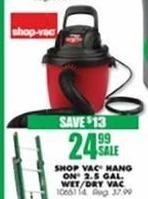 Blains Farm Fleet Black Friday: Shop-Vac 2.5 Gallon 2.5 Peak HP Wet/Dry Vac for $24.99