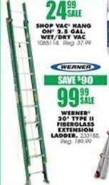 Blains Farm Fleet Black Friday: Werner 20' Type II Fiberglass Extension Ladder for $99.99
