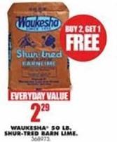 Blains Farm Fleet Black Friday: Waukesha 50-lb Shur-Tred Barn Lime - B2G1 Free