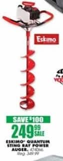Blains Farm Fleet Black Friday: Eskimo Quantum Sting Ray Power Ice Auger for $249.99