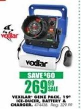 Blains Farm Fleet Black Friday: Vexilar Genz Pack w/ 19-Degree Ice-Ducer Battery & Charger for $269.99