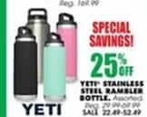 Blains Farm Fleet Black Friday: Yeti Tumblers - 25% Off