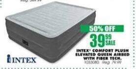 Blains Farm Fleet Black Friday: Intex Comfort Plush Elevated Queen Airbed w/ Fiber Tech for $39.99