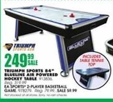 Blains Farm Fleet Black Friday: Triumph Sports Blue Line Air Powered Hockey Table w/ Table Tennis Top for $249.99