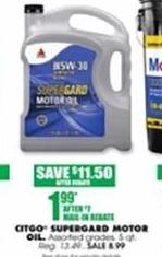 Blains Farm Fleet Black Friday: Citgo Supergard 5-qt. Motor Oil for $1.99 after $7.00 rebate