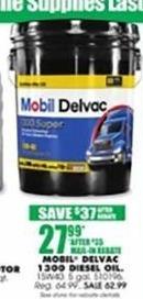 Blains Farm Fleet Black Friday: Mobil Delvac 1300 15W40 5-gal. Diesel Oil for $27.99 after $35.00 rebate